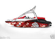 Graphic Kit Decal Boat Sportster Sea Doo Speedster Sport Wrap Scared Fish