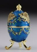 Faberge Egg And Birds Trinket Box Hand Made By Keren Kopal And Austrian Crystals