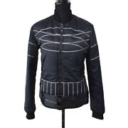 Sports Line Vintage Cc Long Sleeve Down Jacket Navy 06a 38 Y03716h