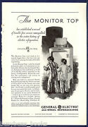 1930 General Electric Advertisement Early Monitor-top Refrigerator Kids Kitchen