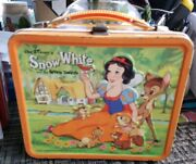 1975 Disney Snow White Lunchbox W Thermos Embossed Inspired Joe Soucy