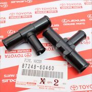 Oem Toyota Heater Hose Output T Pipes Land Cruiser Fzj80 And 100 Series Set Of 2