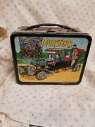 Vintage 1965 The Munsters Metal Lunchbox With Original Thermos Bottle Used Cond.