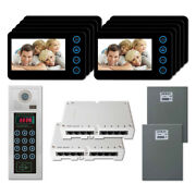 Home Security Multi Tenant Video Intercom System Kit With 10 5 Color Monitor