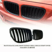 Matte Black Look Front Kidney Grill Grille Strip Cover For Bmw X1 E84 11-15