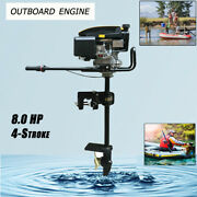 New 8.0hp 4stroke Heavy Duty Outboard Motor Boat Engine W/air Cooling System