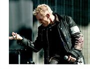 Eyes Without A Face Billy Idol Signed Rocking Out 8x10