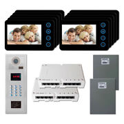 Multi Tenant Home Security Video Intercom System Kit With 10 5 Color Monitor