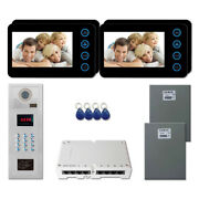 Apartment Home Video Intercom System Kit With 4 5 Door Camera Color Monitor