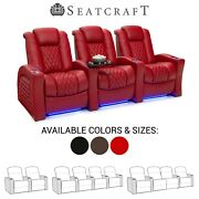 Seatcraft Stanza Leather Home Theater Seating Recliners Seat Chair Couch