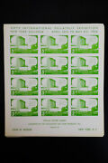 Us 1956 5th World Stamp Expo Imperf Stamp Sheet Hoard