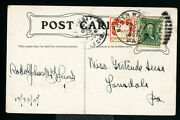 Us Stamps Wx1 On Cvr Superb Tied To Christmas Card