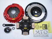 Xtd Stage 3 Clutch And Chrome Moly Flywheel Kit Civic D15 D16 D17 4 Puck Sprung