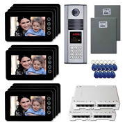 Apartment Building Video Entry Intercom System Kit With 11 7 Color Monitor