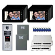 Home Security Door Entry Video Intercom System Kit With 10 7 Color Monitor