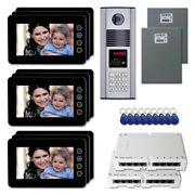Building Entry Security Video Intercom System Kit With 9 7 Color Monitor