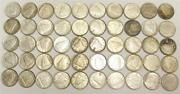 1940 To 1947ml Canada 10 Cents 50-coins 8-different Dates All Ef45 To Au58+