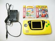 Yellow Sega Game Gear Hgg-3210 Ac Adaptor And 2 Sonic And Tails Games