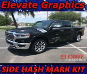 Fits Dodge Ram 1500 Side Hash Mark Stripes Graphics Decals Double Bar 2000-2021