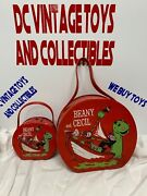 1961 Vintage Beany And Cecil Vinyl Lunchbox - Purse Cases Large And Small Rare