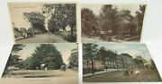 Early 1900s Vintage Massachusetts Scenes Postcards Lot W/ Cars