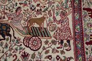 Vintage Collectible Animal Pictorial Agra Oriental Area Rug Hand-made Wool 4and039x8and039