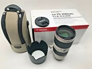 Canon 70-200mm F2.8 L Is Mk 11 Zoom Lens Boxed With Caps And Hood