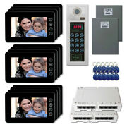 Apartment Entry Security Video Intercom System Kit With 12 7 Color Monitor
