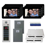 Apartment Door Entry Panel Video Intercom System Kit With 7 7 Color Monitor