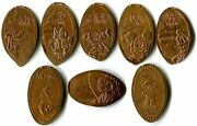 China - Epcot World Showcase Collection Of 8 Different Copper Pressed Pennies
