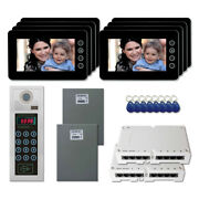 Apartment Door Entry Panel Video Intercom System Kit With 8 7 Color Monitor
