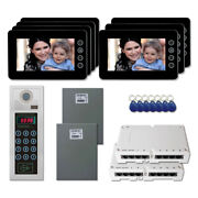 Home Security Access Panel Video Intercom System Kit With 7 7 Color Monitor