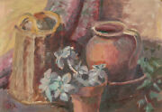P.j.r - Mid 20th Century Oil, Still Life, The Potting Shed