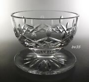 Waterford Crystal Lismore Footed Dessert Bowl 3- Signed--perfect