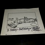 1978 Topper Books Mike Peters On The Brink Grimmy Hand Signed Book Cover Print