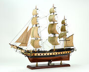 1799 Uss Essex Sailing Frigate Tall Ship Model 32 Handcrafted Wooden Model
