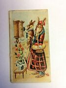 American Caramel Co Easter Advertising 1920and039s Mother And Baby Rabbit On Phone