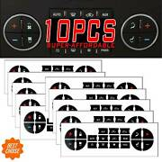 10x Ac Dash Button Repair Kit Decal Stickers Replacement F. Chevrolet Gmc Tahoe