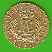 Gold France Louis D'or Mirliton 1724 I Limoges In Xf Very Rarely Nswleipzig
