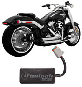 Vance And Hines Shortshots Staggered Exhaust And Fp3 - 2018 H-d Softail Flfb Fxbr