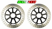 Pair Front Brake Discs Motorcycle Guzzi Griso 8 V 1200 2007 2008 2009 2010 2011