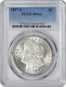 1897-s Morgan Dollar Ms63 Pcgs