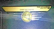 Vtg Air France Airlines Crew/stewardess Purser Chef De Cabine Wings Badge Pin
