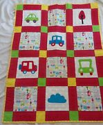 Handmade Transportation Quilt Baby Boy/childs Quilt Cars/trucks/trees/clouds