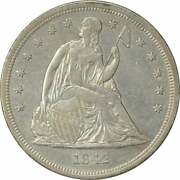 1842 Liberty Seated Silver Dollar Au Uncertified