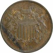 1866 Two Cent Piece Ef Uncertified