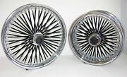 Dna Mammoth Fat 52 Noir Rayons Roues Harley 21x3.5/18x5.5 Touring 2009 + Flh / T