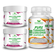 Sundhed Natural Max Collagen Plus C Powder And Pure Turmeric Curcumin
