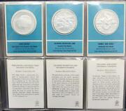 24 X Franklin Mint .925 Silver Coin-medals 1st Edition Proofs 26.6g Each