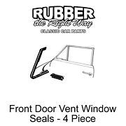 1950 Late 1951 Ford Vent Window Seals - 4 Pieces - Convertible / Victoria